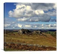 Greattor rocks on Dartmoor, Canvas Print