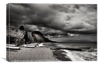 Sidmouth looking East, Canvas Print