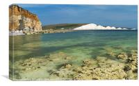 Seven sisters from Hope Gap, Canvas Print