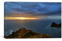 Sunset at Hartland, Canvas Print