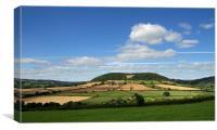 Buckton Hill near Sidmouth, Canvas Print