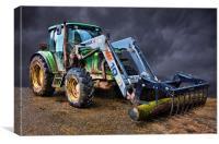 Tractor drama, Canvas Print