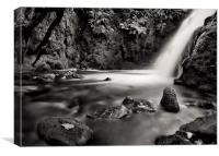 Vennford Brook Waterfall, Canvas Print