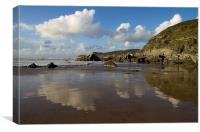 Barricane beach - North Devon, Canvas Print