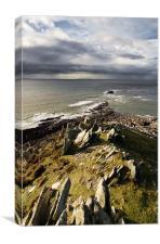 Morte point - North Devon, Canvas Print