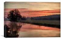 Sunrise over the River Culm, Canvas Print