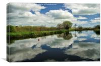 Exeter canal, Canvas Print
