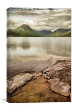 Artistic view of Wastwater in Lake District, Canvas Print