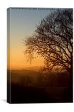 Raddon Hill at sunset, Canvas Print