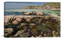 Nanjizal beach in Cornwall, Canvas Print