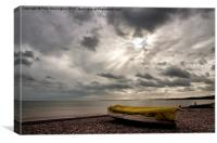 Budleigh Salterton Beach, Canvas Print
