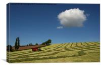 Silage making , Canvas Print