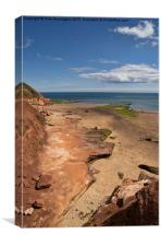 Exmouth near Orcombe Point, Canvas Print