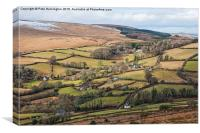 Hamel Down from Honeybag Tor, Canvas Print