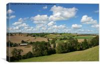 Rural scene near Crediton, Canvas Print