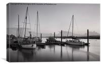 Topsham boats at dusk, Canvas Print