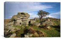 Holwell Tor on Dartmoor, Canvas Print
