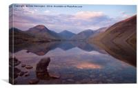 Twilight at Wastwater in Cumbria, Canvas Print