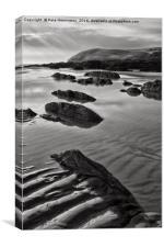 Croyde beach in North Devon, Canvas Print