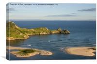 Three Cliffs Bay in the Gower, Canvas Print