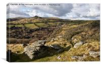 Sharp Tor from Bench Tor, Canvas Print