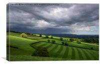 Light on Mid Devon Hills, Canvas Print