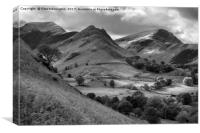 The Newland valley in Cumbria, Canvas Print