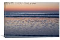 Sunset at Woolacombe, Canvas Print