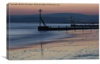 Sunset at Exmouth, Canvas Print