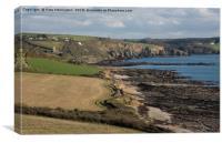 Wembury Bay in Devon, Canvas Print