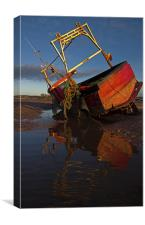 Boat on the Exe Estuary, Canvas Print