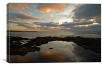 Constantine at Twilight - N Cornwall, Canvas Print