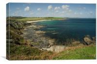 Towan Beach from Killigerran Head, Canvas Print