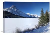 Waterfowl Lake And Mount Chephren Alberta, Canvas Print