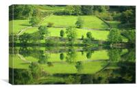 Reflections on Rydal Water, Canvas Print
