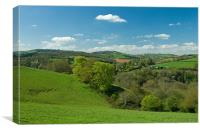 Exe valley in Mid Devon, Canvas Print