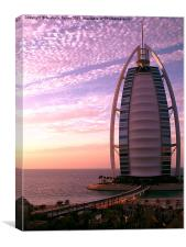 Burj Al Arab at Sunset, Canvas Print