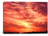 Fiery Sunrise, Canvas Print