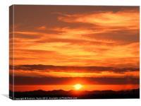 Sunrise over Jeddah, Canvas Print