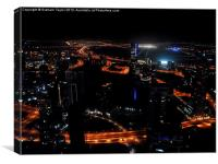 View from the JW Marriott Marquis Dubai Hotel, Canvas Print
