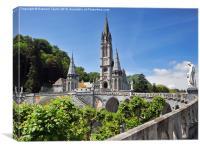 Rosary Basilica, Lourdes, France, Canvas Print