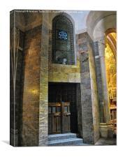 Inside the Rosary Basilica, Lourdes, Canvas Print