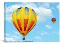 Balloons over Dubai, Canvas Print