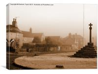 Linby Village, Canvas Print