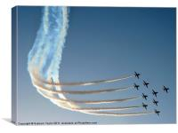 Red Arrows in Jeddah 01, Canvas Print