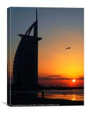 Sunset at the Burj Al Arab