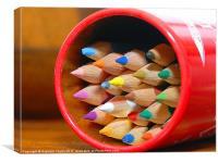 Crayons, Canvas Print