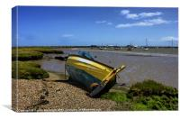 View to Aldeburgh Yacht Club, Canvas Print