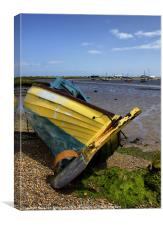 All Washed Up At Aldeburgh, Canvas Print