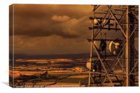 Stormy Evening On The Wrekin, Canvas Print